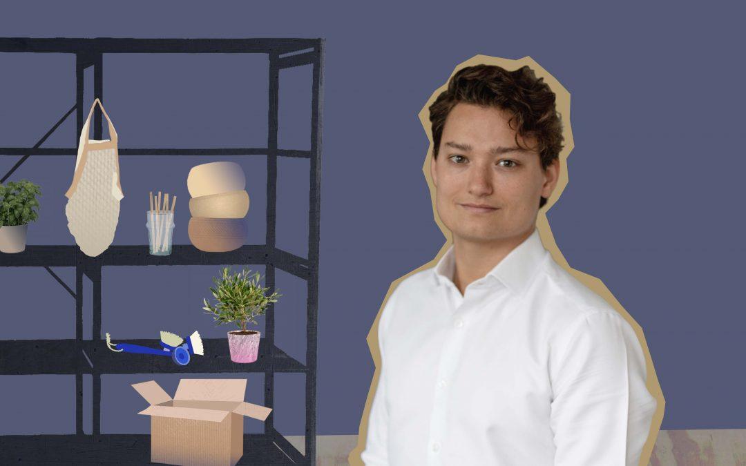 Ruben (28) heeft een webshop met duurzame producten