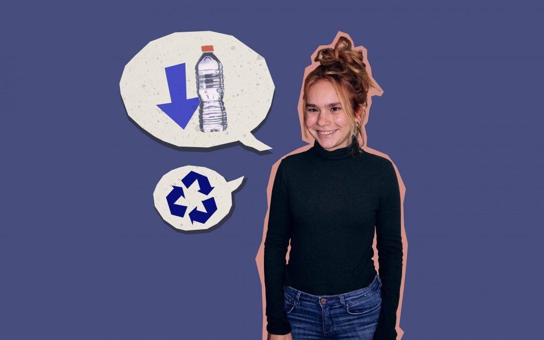 Lynn (20) laat haar stem horen via het Jonge Klimaatpanel